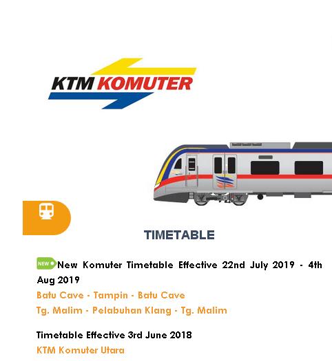 Jadual Sementara Perjalanan KTM Komuter Tanjung Malim-Pelabuhan Klang