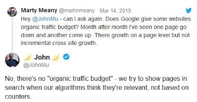 John Mueller en Twitter sobre el buscador de Google
