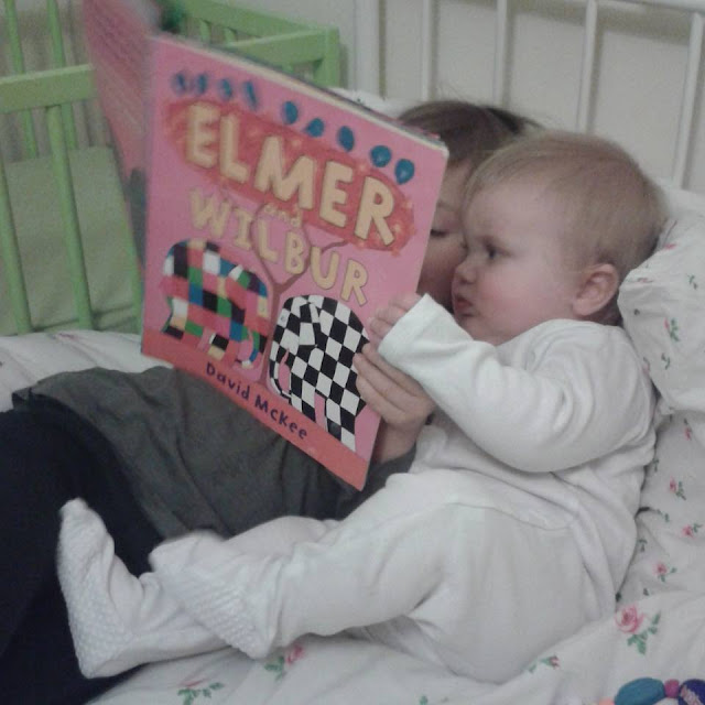 Reading to barney