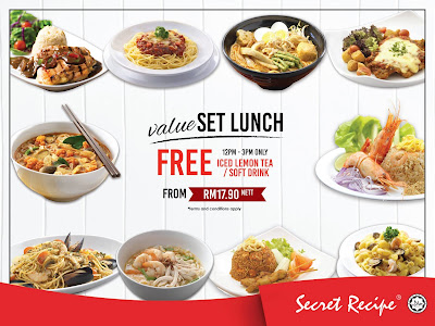 Secret Recipe Malaysia Lunch Set Value Meal Promo