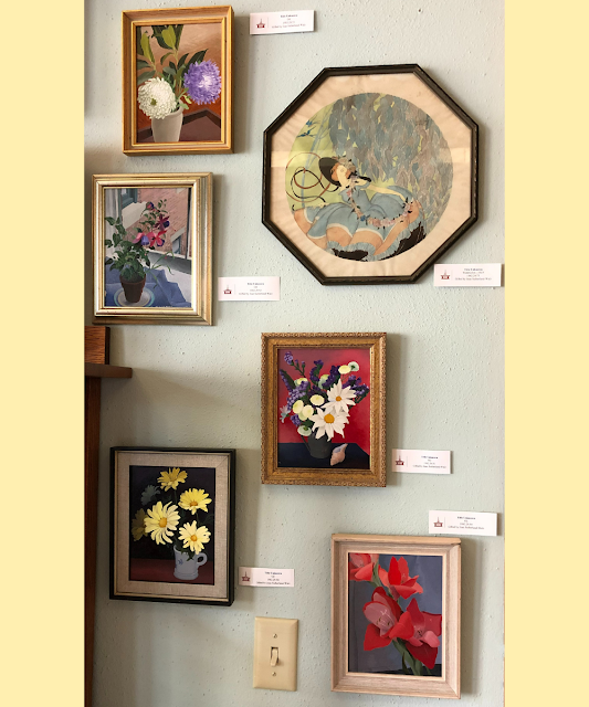 Paintings by local artist Gretchen Frick McBlair uplift.