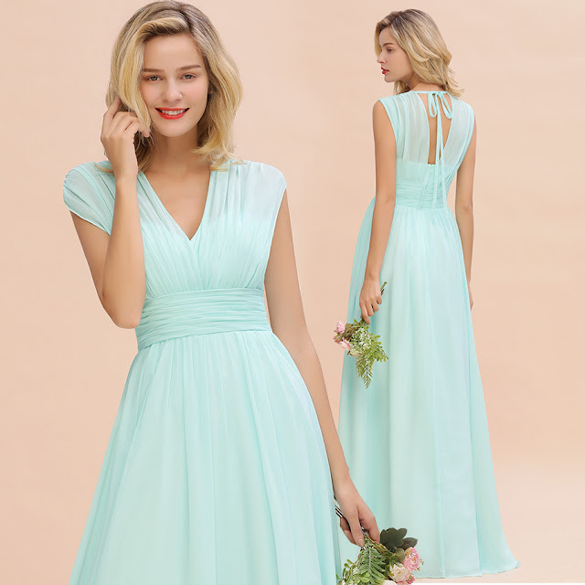 sky blue bridesmaid dresses