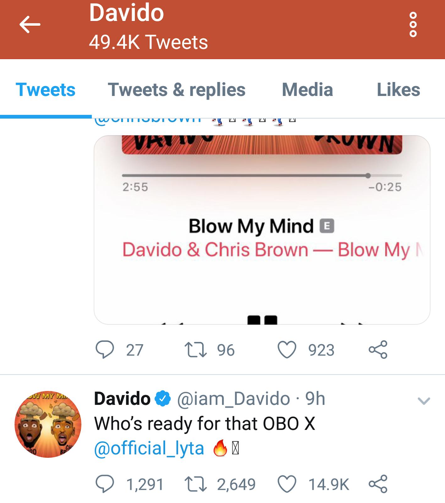 Davido announces collaboration with former YBNL singer, Lyta