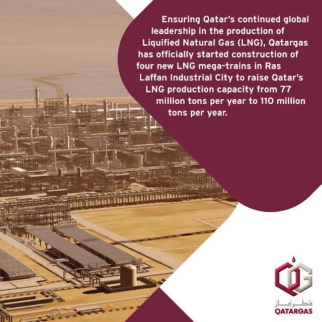 Qatargas says it starts construction of four new LNG mega-trains | Reuters