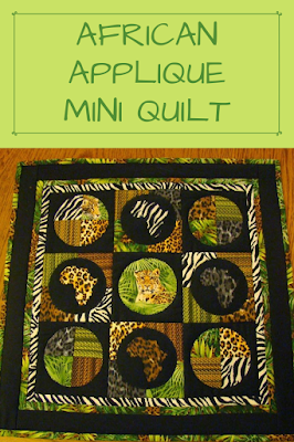 These jungle fabrics by Windham were perfect for this Africa inspired mini quilt