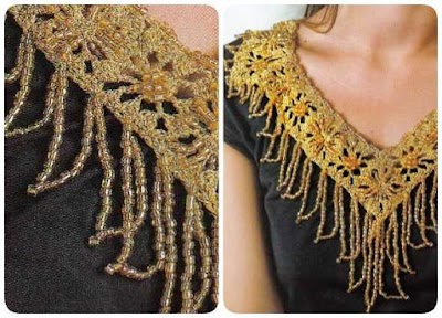 Cuello-Collar con Abalorios Patron