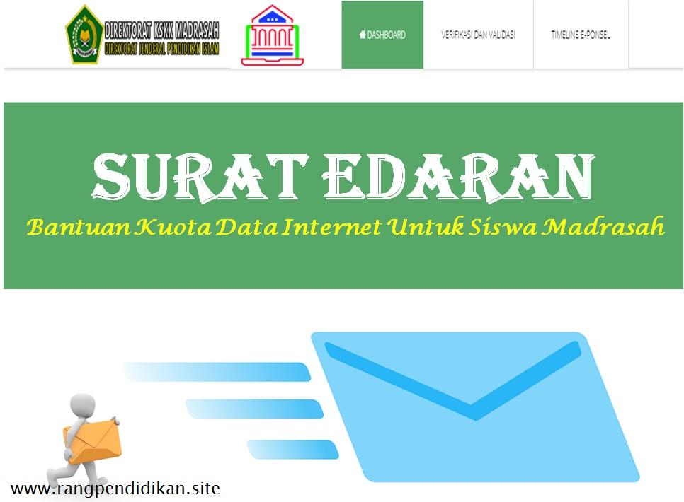 SE Pemberian Kuota Internet Bagi Siswa Madrasah