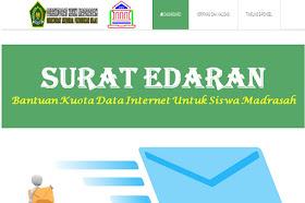 Surat Edaran Pemberian Kuota Internet Bagi Siswa Madrasah