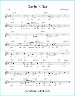 chord take the a train lagu jazz standar