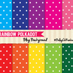 Rainbow Polkadot Blog Background