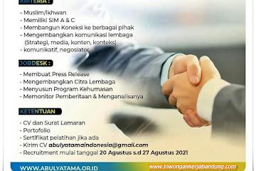 Lowngan Kerja Humas Abulyatama Bandung