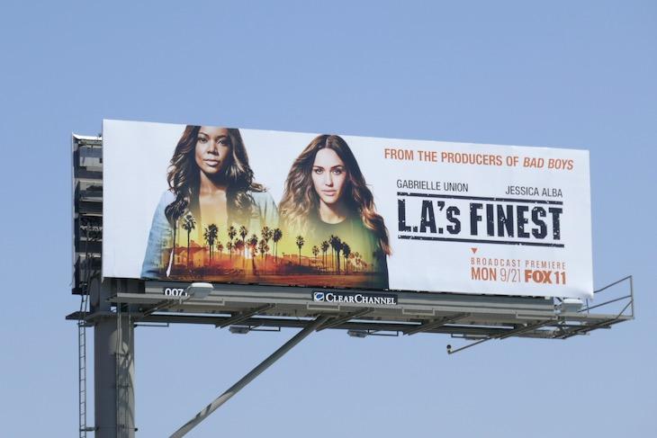 LAs Finest Broadcast premiere billboard