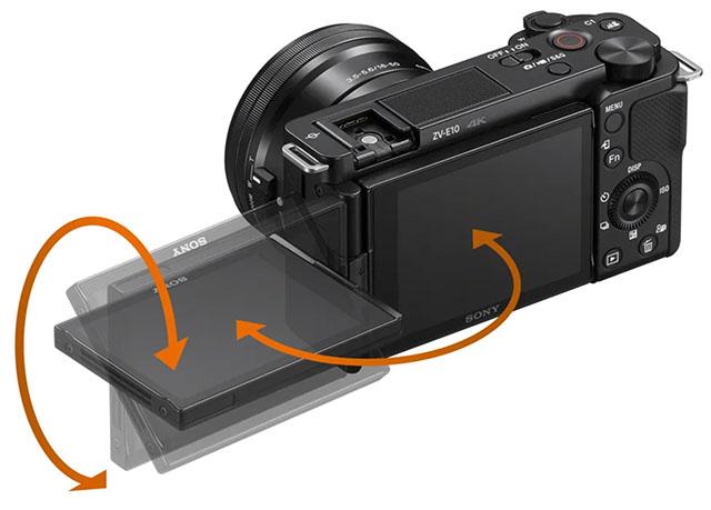 Камепа Sony ZV-E10 получила поворотный во всех плоскостях экран