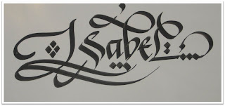 Calligraphy Art: French names, Isabel