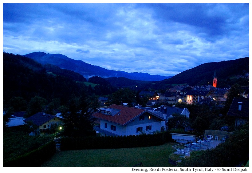 An evening view, Rio di Pusteria, South Tyrol, Italy - Images by Sunil Deepak