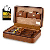 Scotte(TM) premium Cigar Humidors portable travel cigar humidor case for 4 cigar