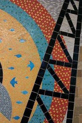 Mosaic ladder at Southampton station