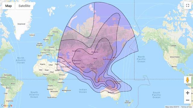 gambar arah beam satelit Chinasat 10 C-band