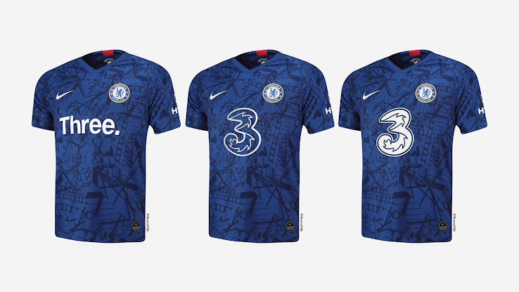 New Chelsea Kit Sponsor Here S How The 3 Logo Could Look Like On Chelsea Kits Footy Headlines