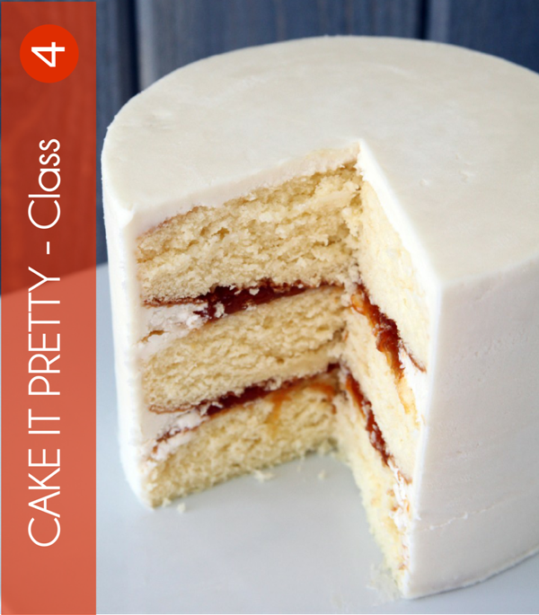 How To Ice or Frost a Cake | Cake Decorating Class 4  - via BirdsParty.com