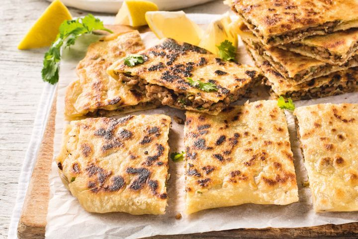 This is a Middle Eastern spin on popular Turkish gozleme Middle Eastern stuffed flatbreads recipe