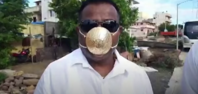 USD 4000 Pure Gold Mask to protect you from Coronavirus