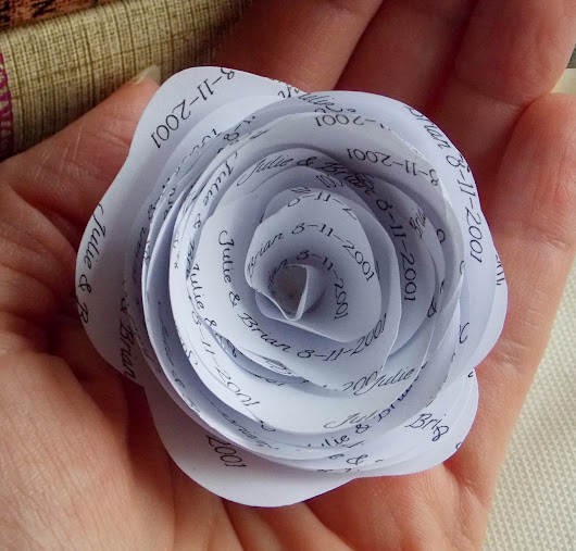 Personalized Paper Flowers