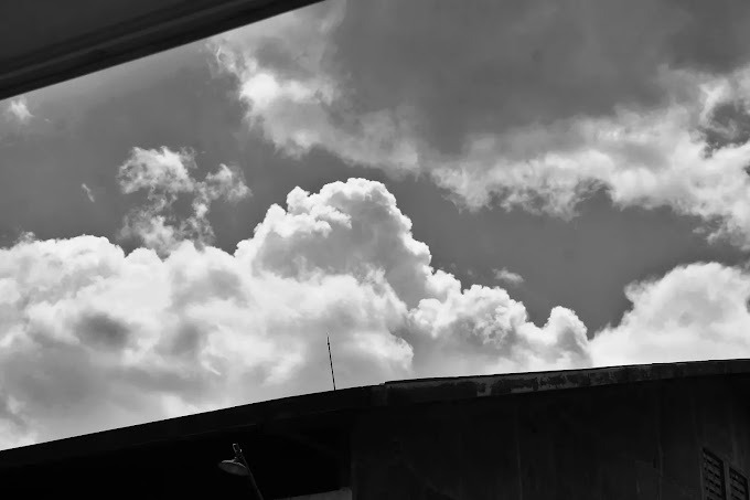 Clouds over the roof
