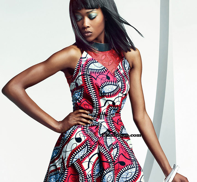 Vlisco campaign Parade of Charm robe en pagne africain vlisco