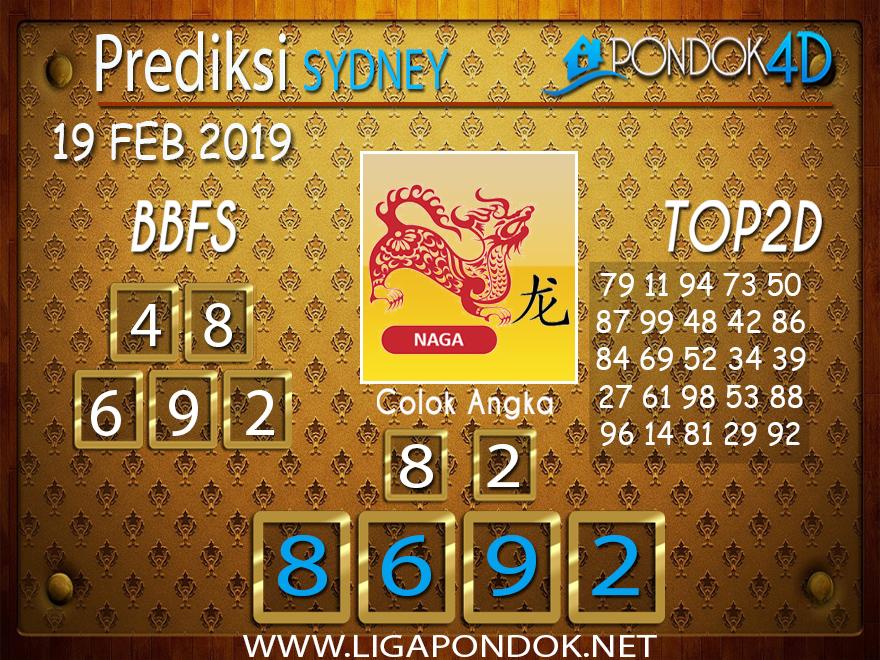 Prediksi Togel SYDNEY PONDOK4D 19 FEBRUARI 2019
