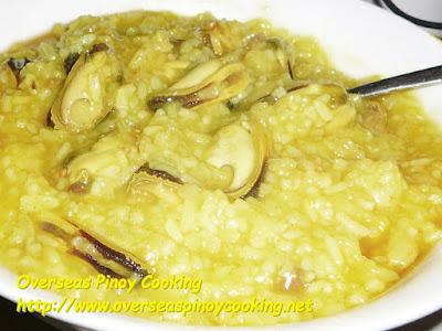 Tahong Lugaw, Green Mussels Porridge