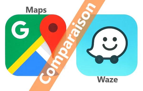 Comparaison entre Google Maps et Waze .