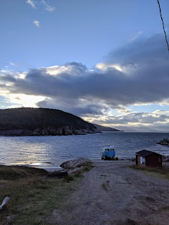 Docked Boat At White Point Along The Cabot Trail, Cape Breton Island