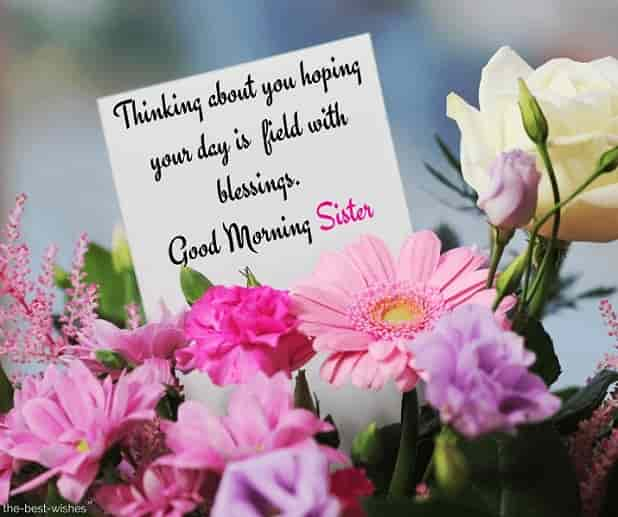 good morning sister love sms