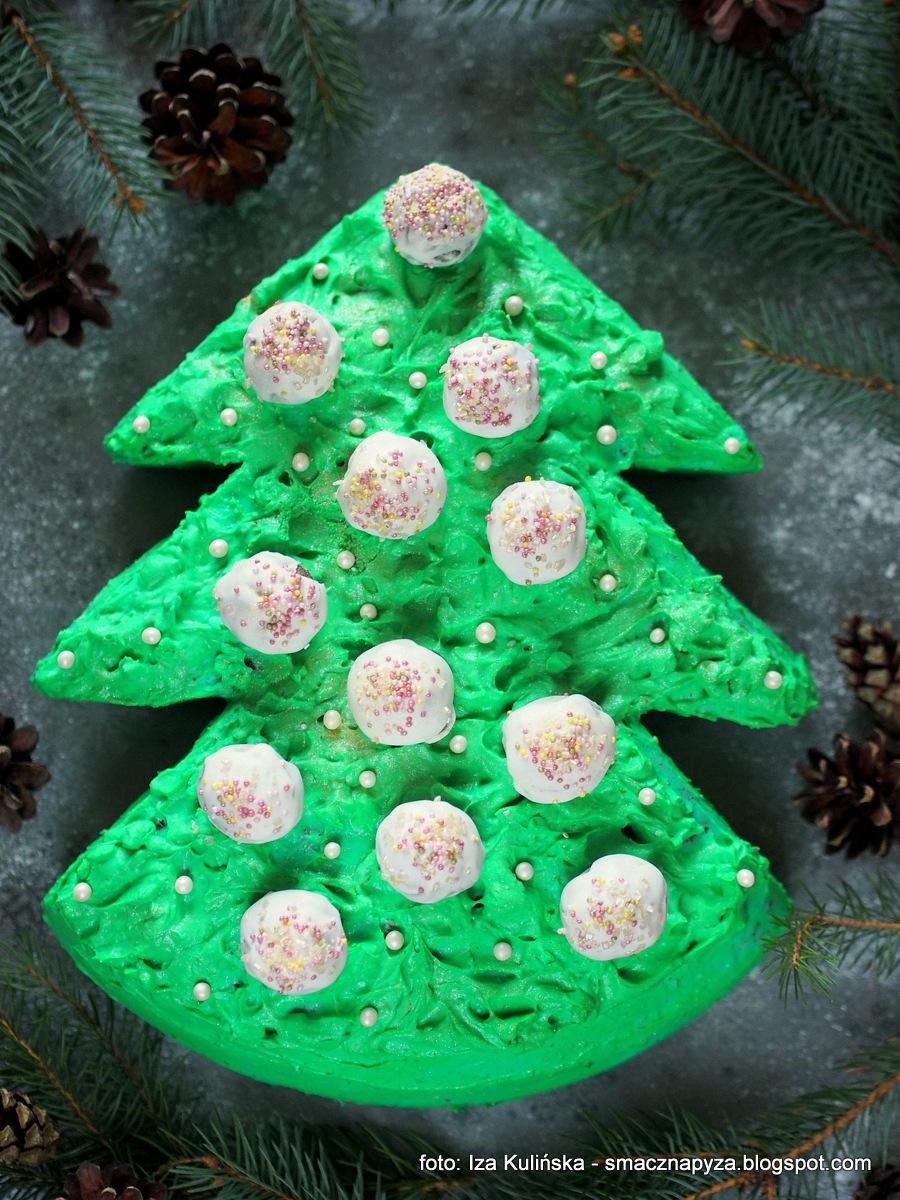 torcik, choineczka, ciasto, zielony_krem, deser, bożenarodzenie, święta, cukier_diamant, diamantowa_kuchnia