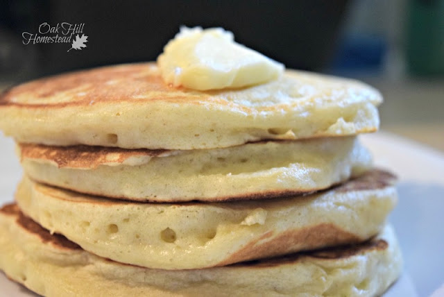 Light, fluffy pancakes with butter