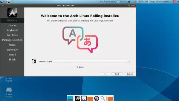 cara menginstal Arch Linux dengan Calam Arch-2