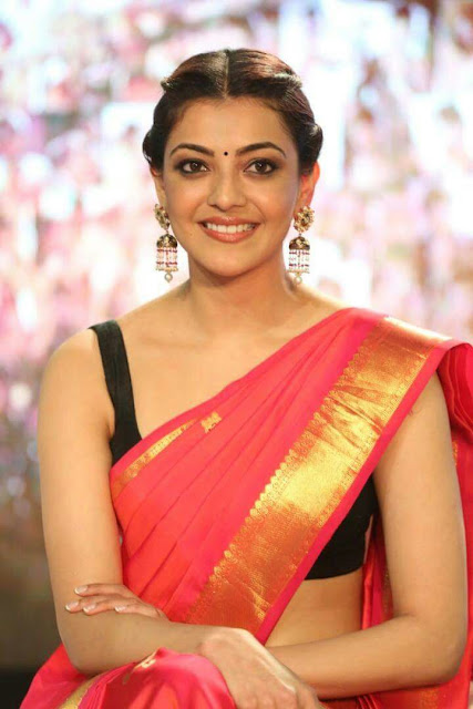 IMG 20170803 WA0417 - Kajal Agarwal Sexy Photos In Hot Red Saree For Nene Raju Nene Mantri Movie Promotion