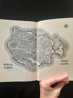 """Wielki i Mały Jaspis, czyli jest i druga mapa, """"Okaleczone oko"""" Brent Weeks, fot. paratexterka ©"""
