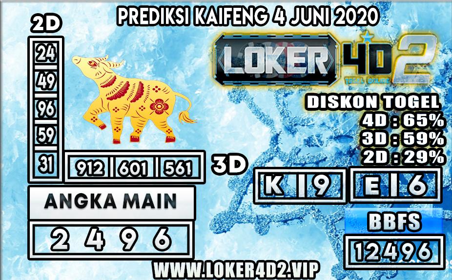 PREDIKSI TOGEL KAIFENG LOKER4D2 4 JUNI 2020