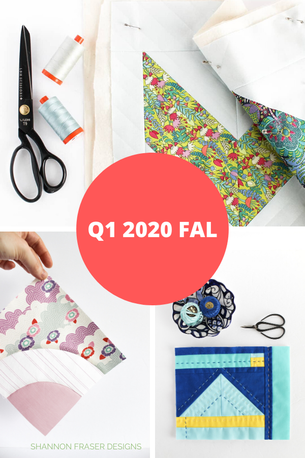Honest state of a modern quilter's WIP List | Q1 2020 Finish-a-Long | Shannon Fraser Designs #modernquilts #wip
