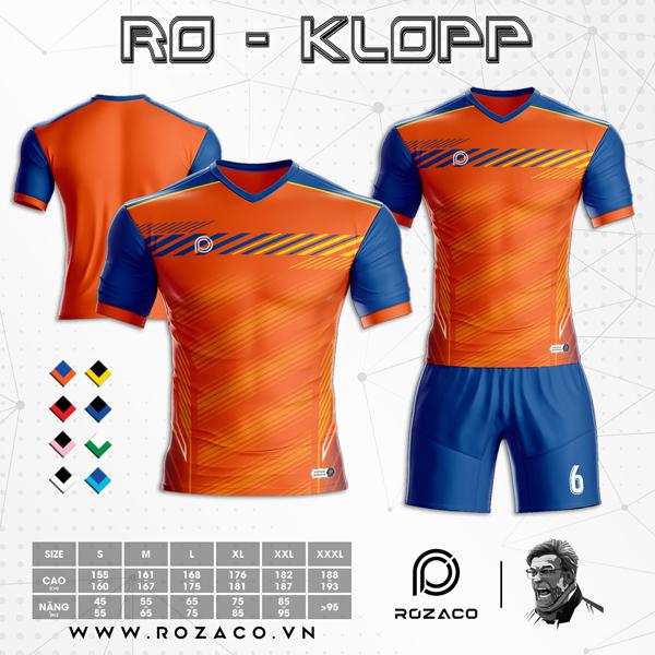 Áo Không Logo Rozaco RO-KLOPP Màu Cam