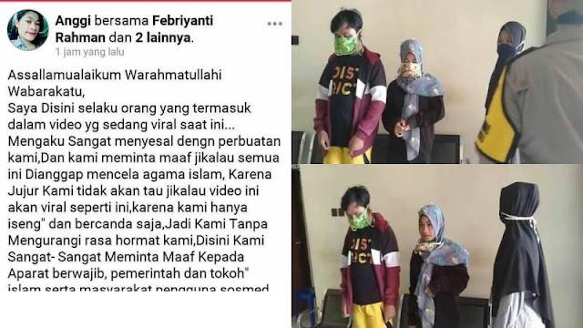Polisi Menangkap 3 Remaja Plesetkan Lagu Aisyah Istri Rasulullah Sambil Joget