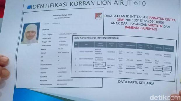 Ini Identitas 1 Korban Lion Air yang Teridentifikasi