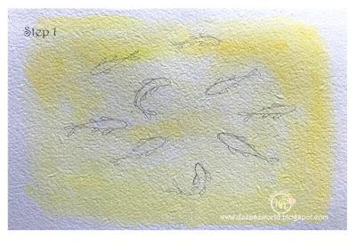 FishPond-NegativePainting-Step1-HuesnShades