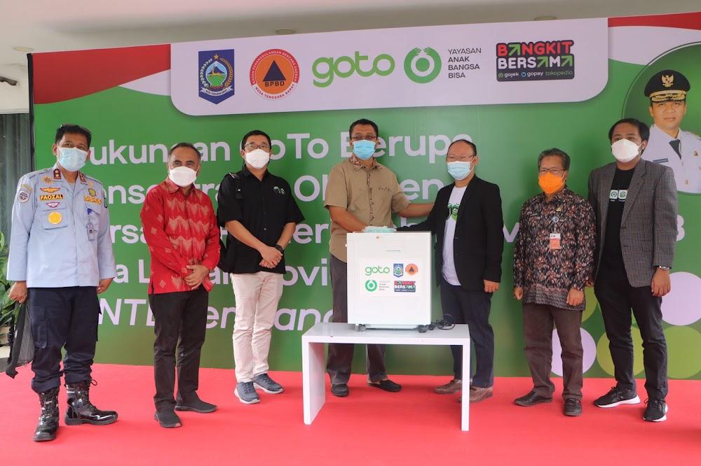 Pemprov NTB Terima Bantuan Oksigen Concentrator dari GoTo
