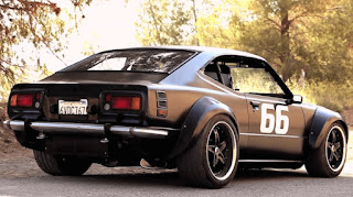 the modification of the muscle car from 1975 Toyota Corolla by Mark Still