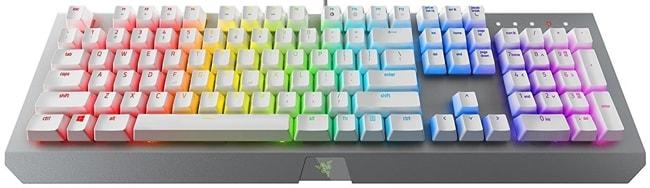 Razer BlackWidow X Chroma Mercury Full Size white mechanical keyboard
