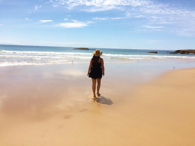 Girl on beach in Australia