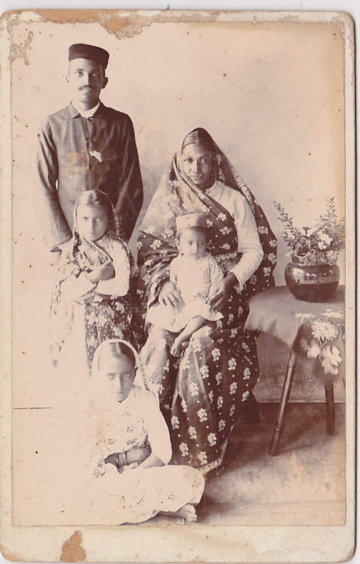 Indian Family including Children Group Photograph